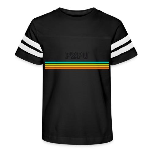 striped mug black logo png - Kid's Vintage Sport T-Shirt