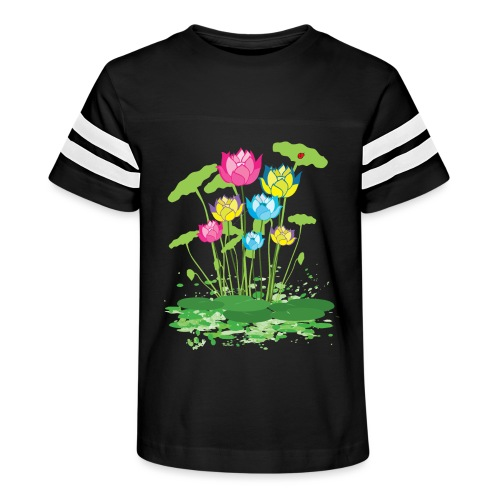 colorful waterlilies flowers - Kid's Vintage Sport T-Shirt