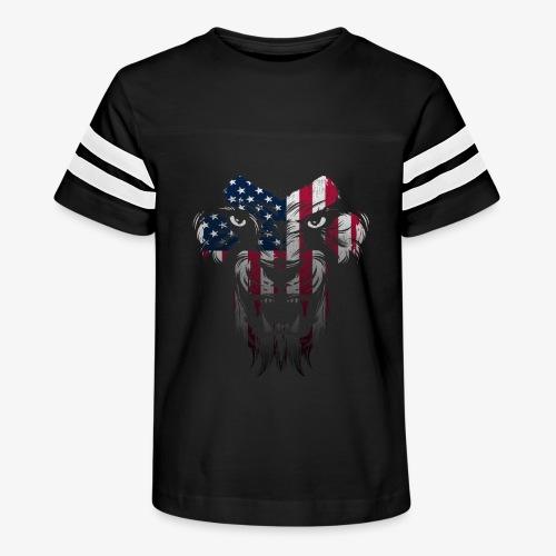 American Flag Lion Shirt - Kid's Vintage Sport T-Shirt