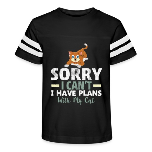 Sorry I can't I have Plans With My CAT - Kid's Vintage Sport T-Shirt
