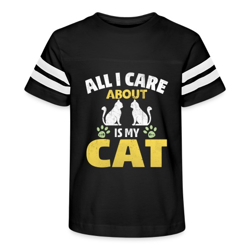 All I care Is My Cat - Kid's Vintage Sport T-Shirt