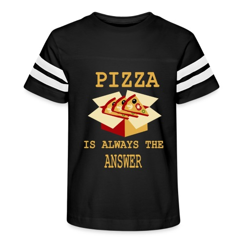 Pizza Is Always The Answer - Kid's Vintage Sport T-Shirt