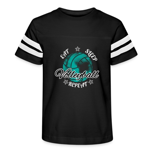 Eat Sleep Repeat Volleyball - Kid's Vintage Sport T-Shirt