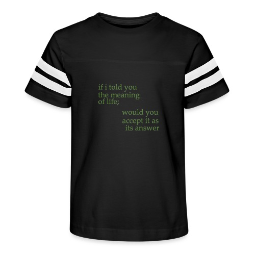 meaning of life - Kid's Vintage Sport T-Shirt