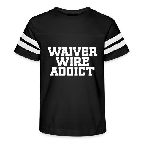 Waiver Wire Addict (Turquoise & Metallic Gold) - Kid's Vintage Sport T-Shirt