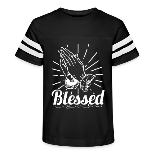 Blessed (White Letters) - Kid's Vintage Sport T-Shirt