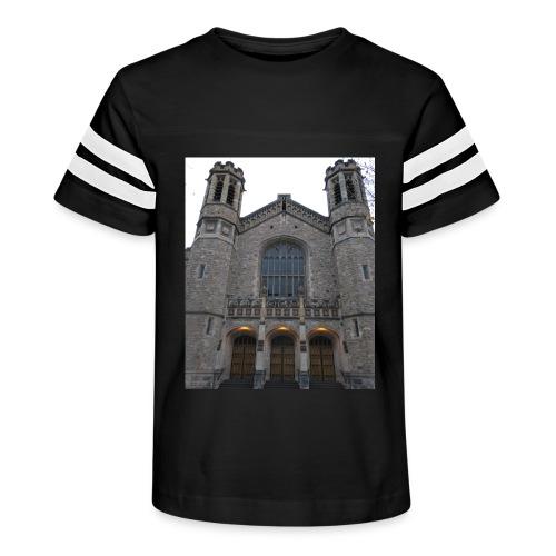 Gothic church frontage - Kid's Vintage Sport T-Shirt