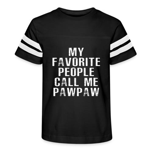 My Favorite People Called me PawPaw - Kid's Vintage Sport T-Shirt