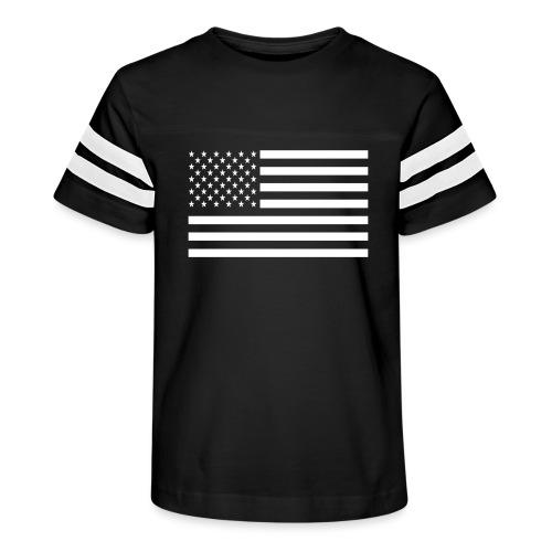 USA American Flag - Kid's Vintage Sport T-Shirt