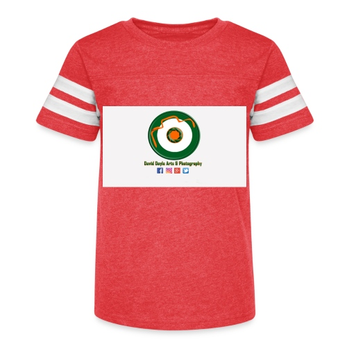 David Doyle Arts & Photography Logo - Kid's Vintage Sport T-Shirt