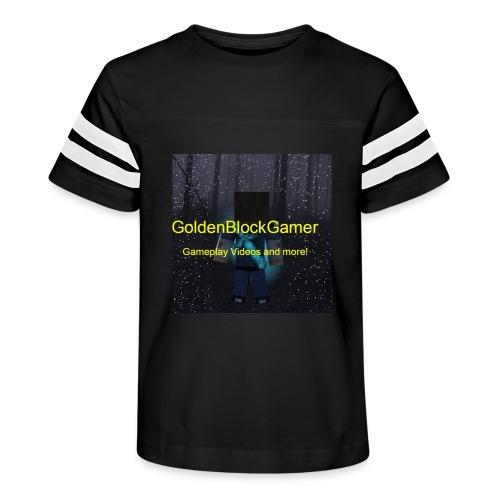 GoldenBlockGamer Tshirt - Kid's Vintage Sport T-Shirt