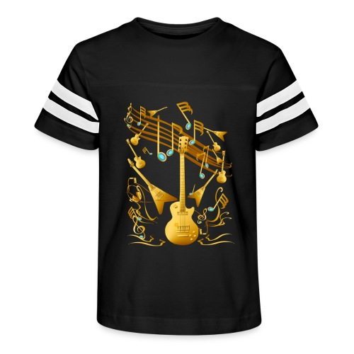Gold Guitar Party - Kid's Vintage Sport T-Shirt