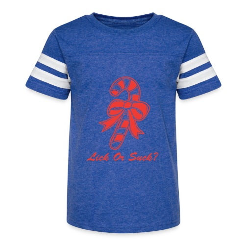 Lick Or Suck Candy Cane - Kid's Vintage Sport T-Shirt
