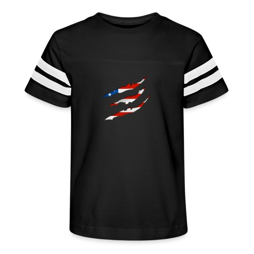3D American Flag Claw Marks T-shirt for Men - Kid's Vintage Sport T-Shirt