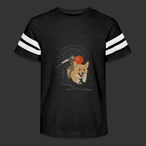 A Corgi Knight charges into battle - Kid's Vintage Sport T-Shirt