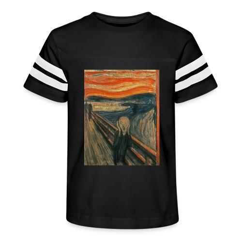 The Scream (Textured) by Edvard Munch - Kid's Vintage Sport T-Shirt