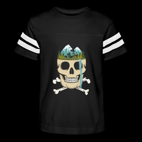 Skull Waterfall - Kid's Vintage Sport T-Shirt