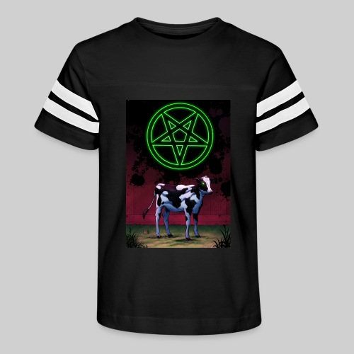 Satanic Cow - Kid's Vintage Sport T-Shirt