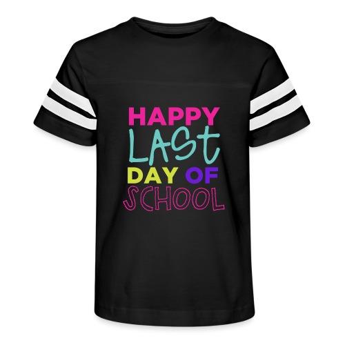 Happy Last Day of School Fun Teacher T-Shirts - Kid's Vintage Sports T-Shirt