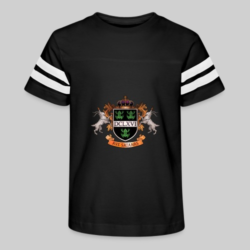 Satanic Heraldry - Coat of Arms - Kid's Vintage Sport T-Shirt