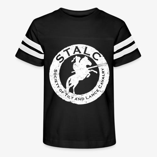 STALC Retro Logo WHITE - Kid's Vintage Sport T-Shirt