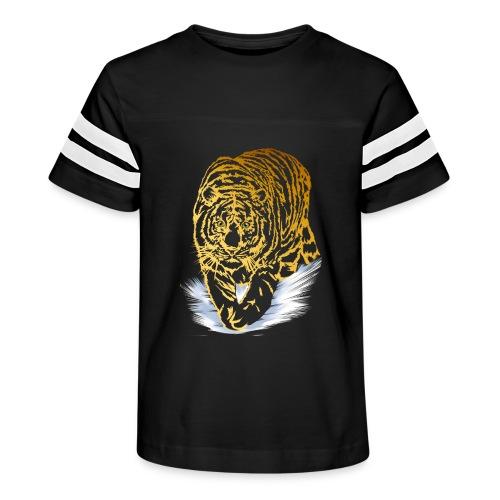 Golden Snow Tiger - Kid's Vintage Sport T-Shirt