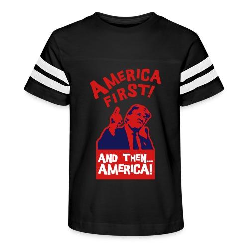 AMERICA FIRST - Kid's Vintage Sport T-Shirt