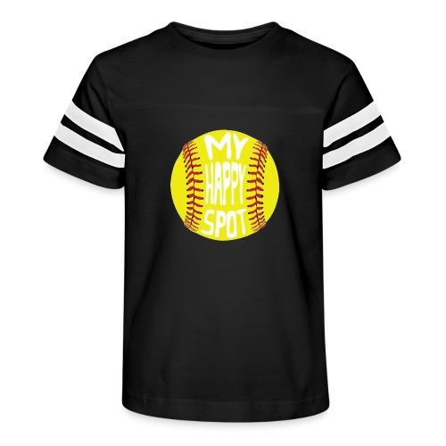 People s Republic of Burlington Softball - Kid's Vintage Sport T-Shirt