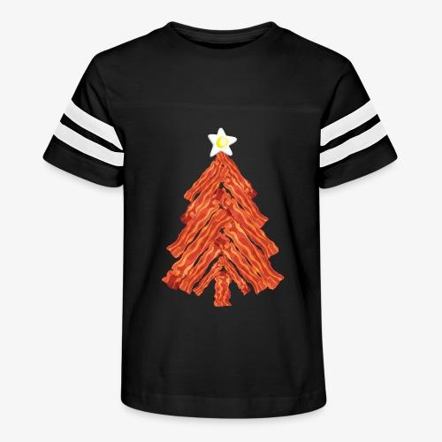 Funny Bacon and Egg Christmas Tree - Kid's Vintage Sport T-Shirt