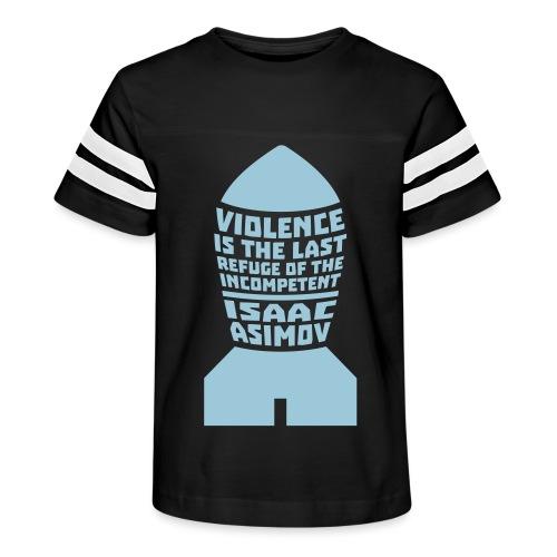 Isaac Asimov: Violence is the Last Refuge - Kid's Vintage Sport T-Shirt