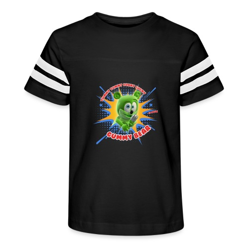 Funny Lucky Gummy Bear - Kid's Vintage Sport T-Shirt