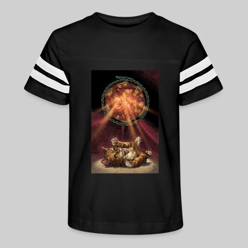 Playful Satanic Kitten - Kid's Vintage Sport T-Shirt