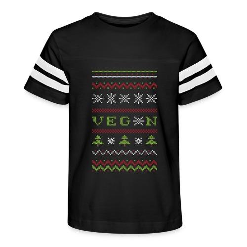 Veg*n Ugly Sweater Women's Wideneck Sweatshirt - Kid's Vintage Sport T-Shirt