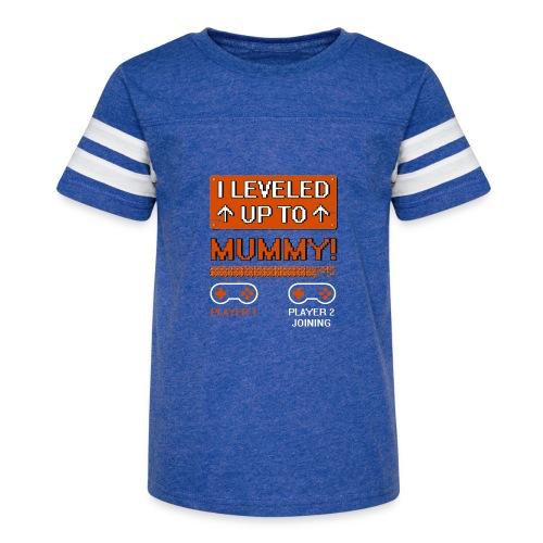 I Leveled Up To Mummy - Kid's Vintage Sport T-Shirt
