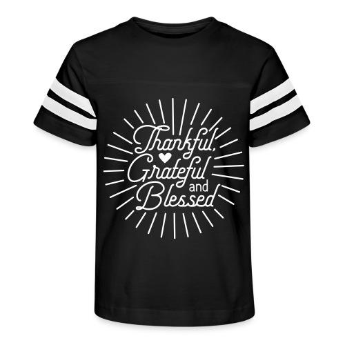 Thankful, Grateful and Blessed Design - Kid's Vintage Sport T-Shirt