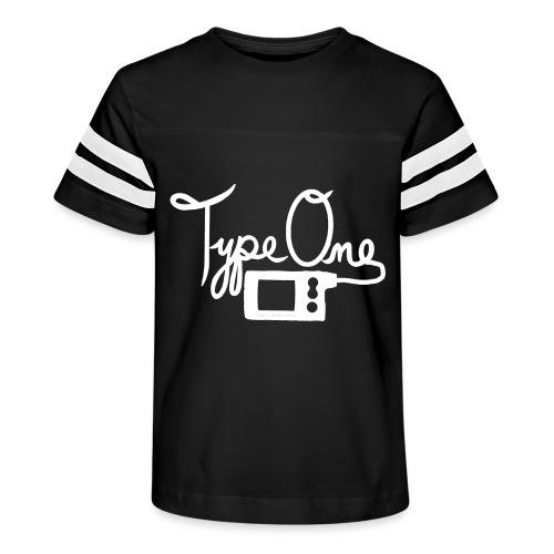 Type One - Insulin Pump 2- White - Kid's Vintage Sport T-Shirt