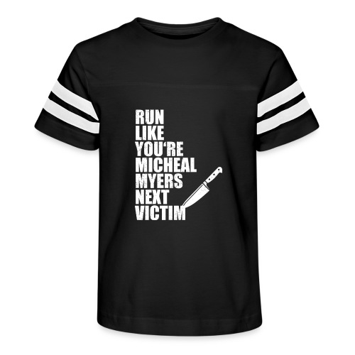 Run like you are Micheal Myers next victim - Kid's Vintage Sport T-Shirt