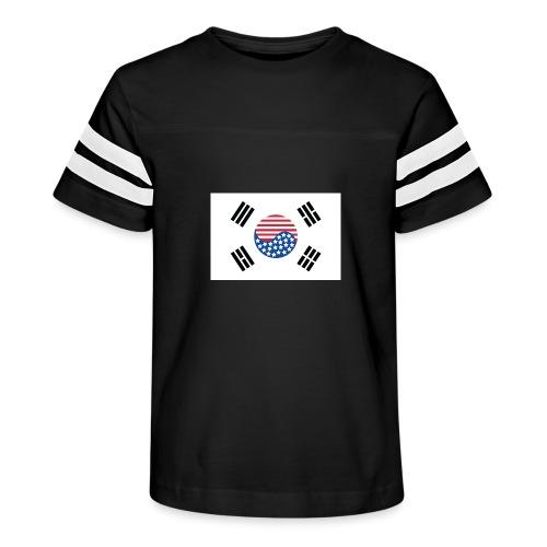 Korean American Flag - Kid's Vintage Sport T-Shirt