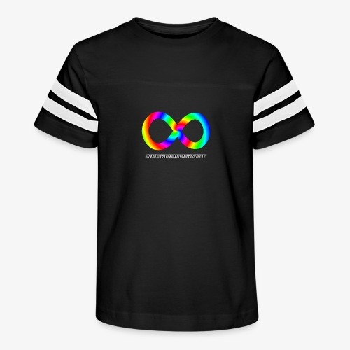 Neurodiversity with Rainbow swirl - Kid's Vintage Sport T-Shirt