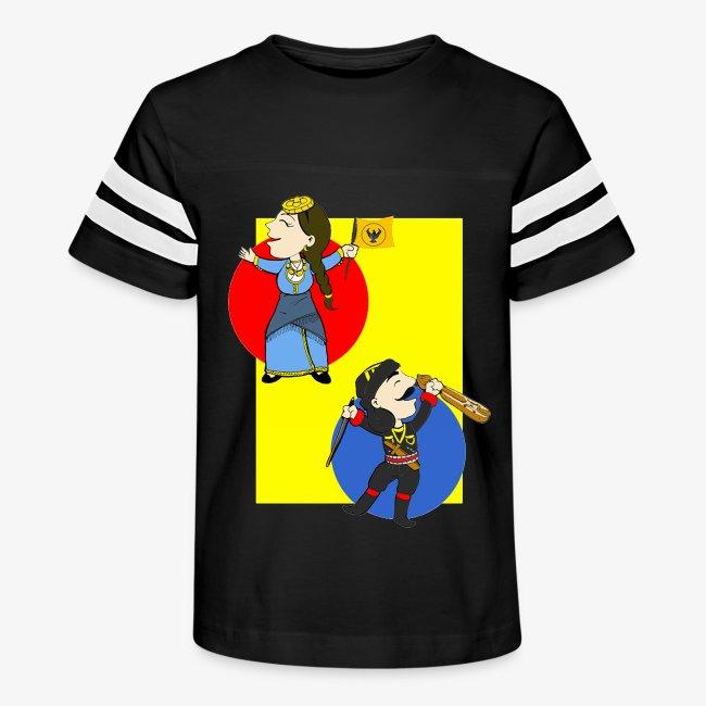 Cartoon - Pontios/lyra & Pontia/flag