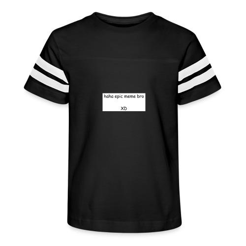 epic meme bro - Kid's Vintage Sport T-Shirt