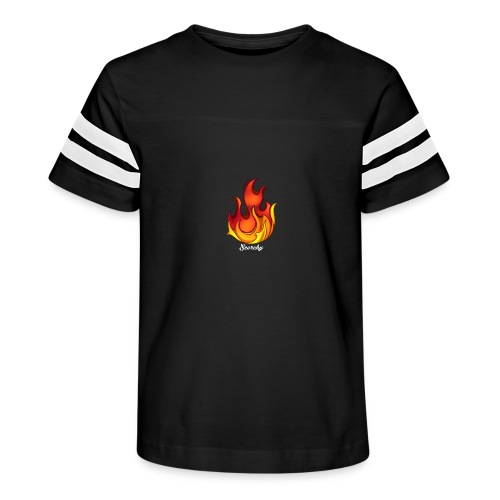 Scorchy White Logo - Kid's Vintage Sport T-Shirt