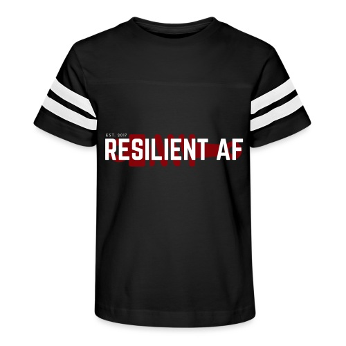 RESILIENT WHITE with red - Kid's Vintage Sport T-Shirt