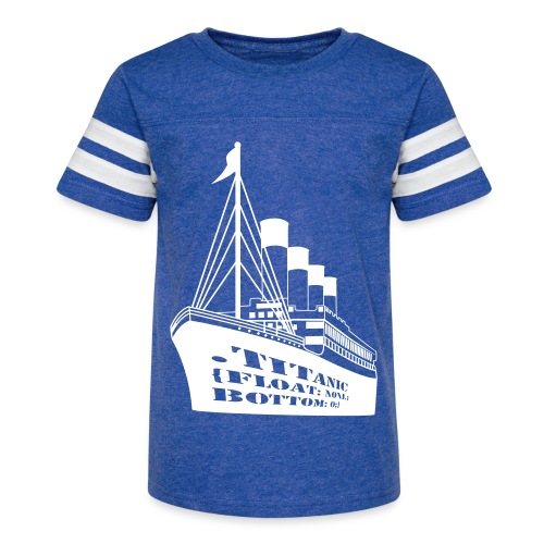 Titanic in CSS - Kid's Vintage Sport T-Shirt