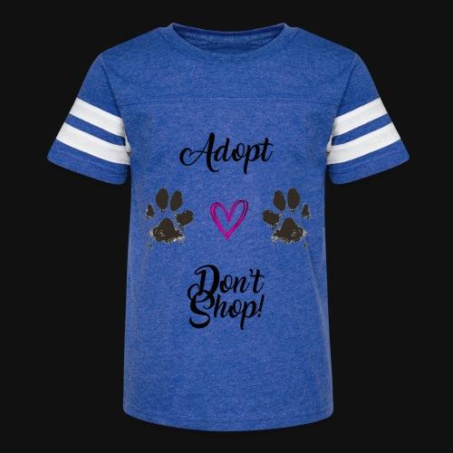 Adopt, don't shop! - Kid's Vintage Sport T-Shirt