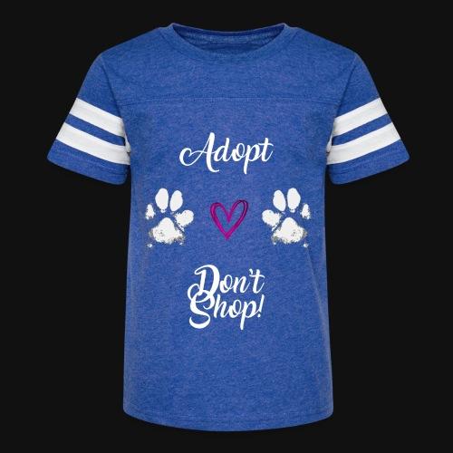 Adopt, don't shop! (white) - Kid's Vintage Sport T-Shirt
