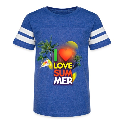 I love summer - Kid's Vintage Sport T-Shirt