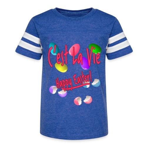 C'est La Vie, Easter Broken Eggs, Cest la vie - Kid's Vintage Sport T-Shirt