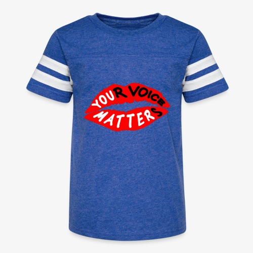 Your Voice Matters - Kid's Vintage Sport T-Shirt