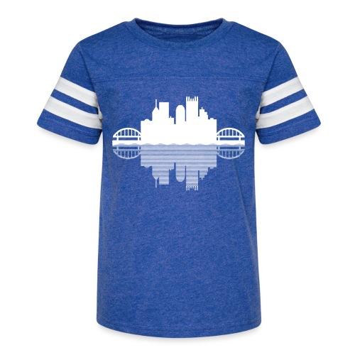 Pittsburgh Skyline Reflection - Kid's Vintage Sport T-Shirt
